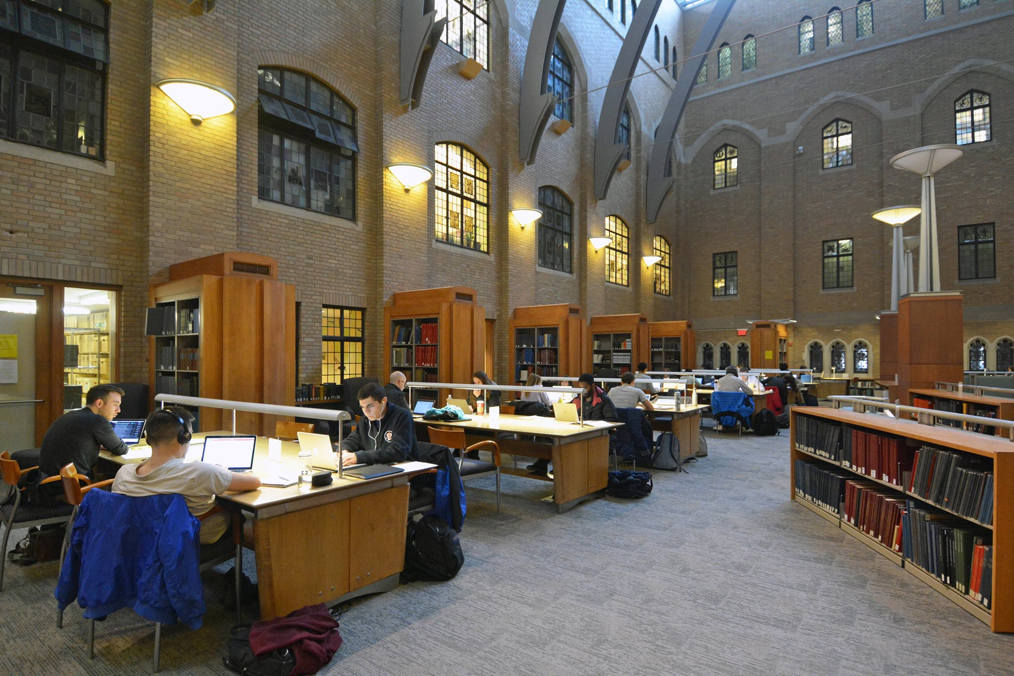 Students studying in the Gilmore Music Library
