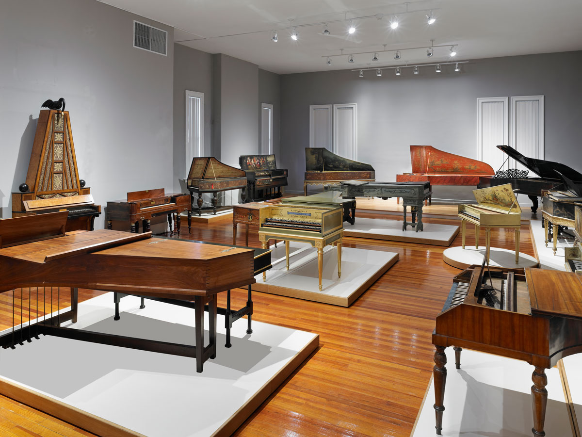 Keyboard gallery at the Collection of Musical Instruments