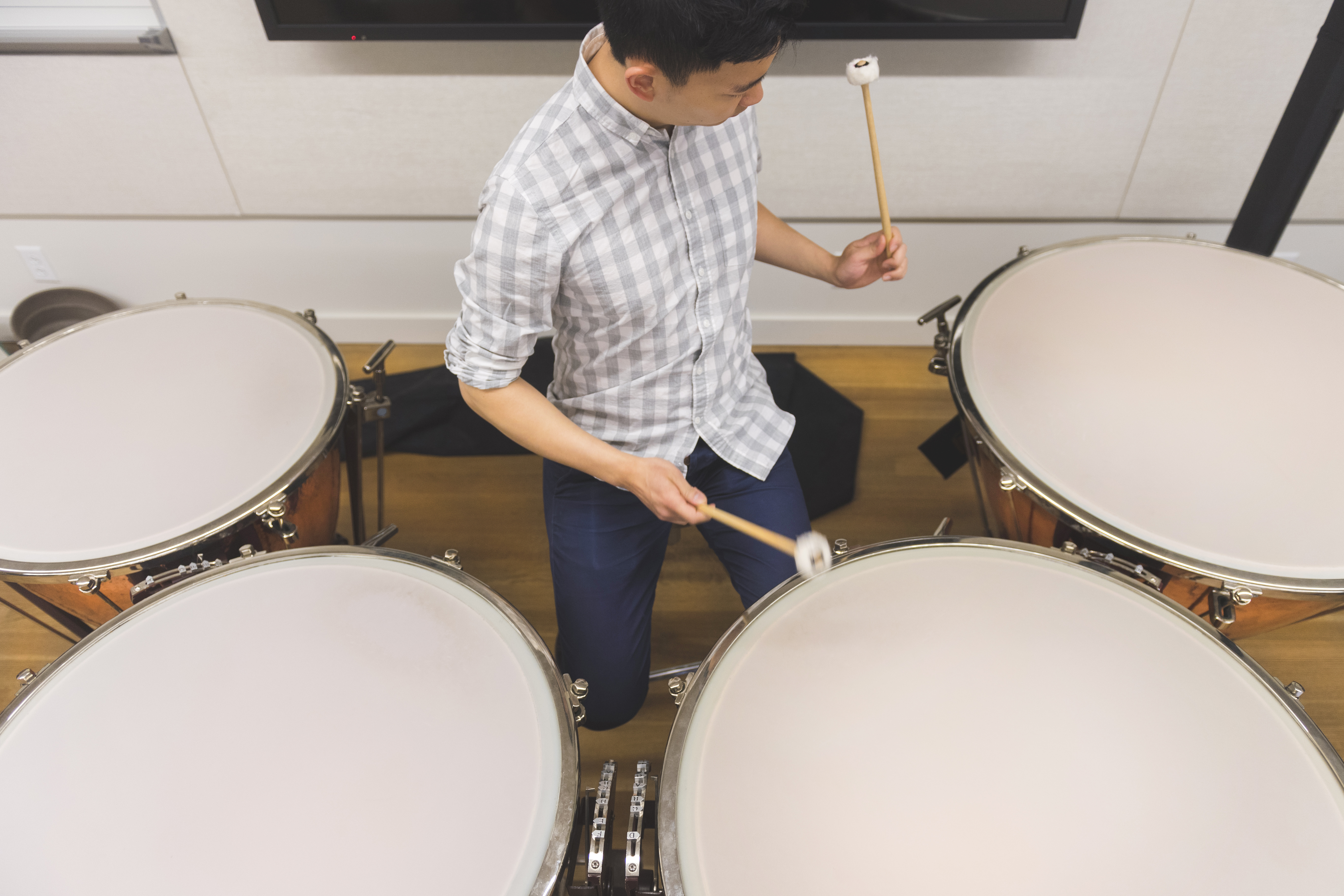 Percussion student