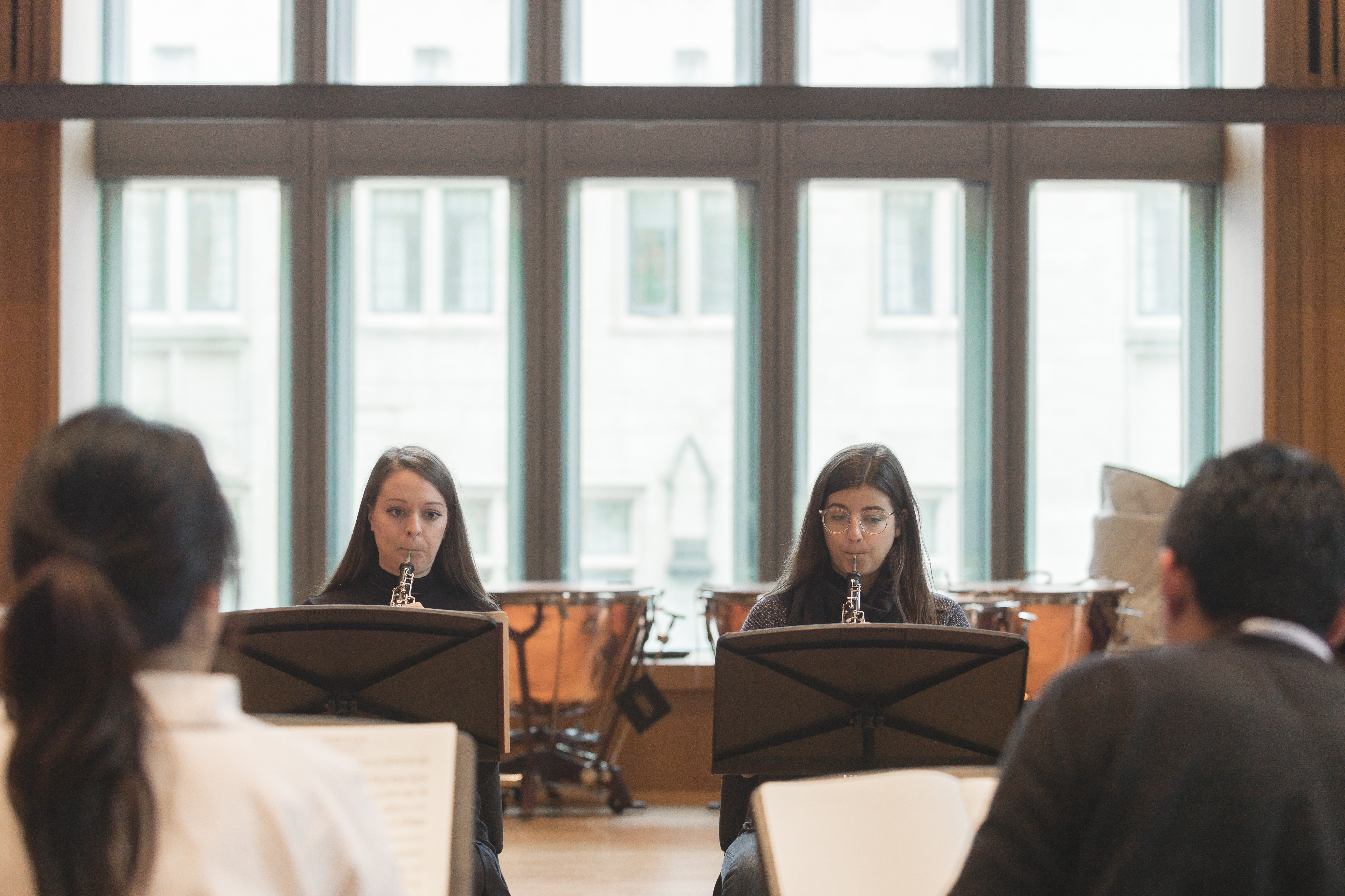 Students rehearsing in the Orchestra Rehearsal Hall