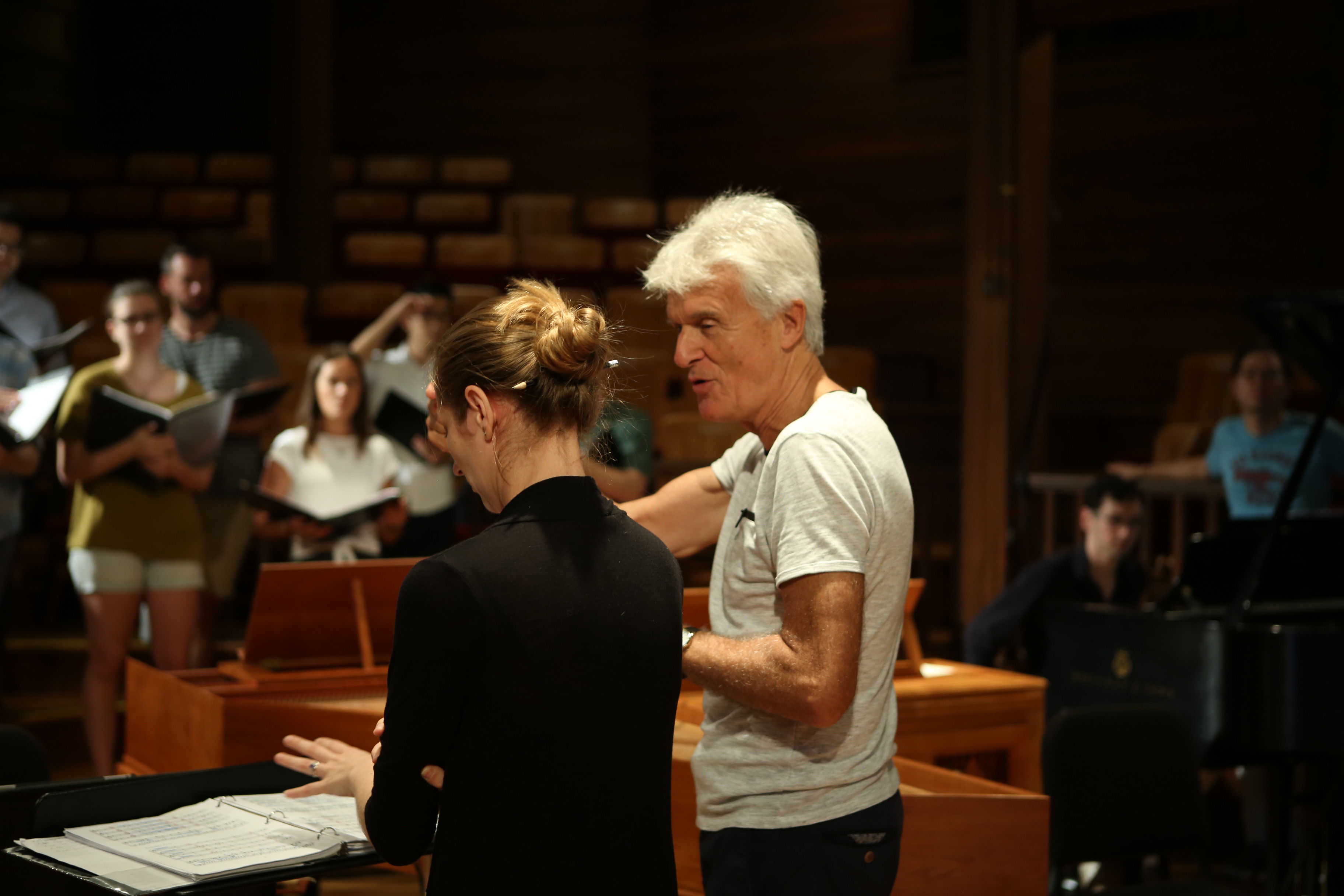 Simon Carrington coaching student conductor