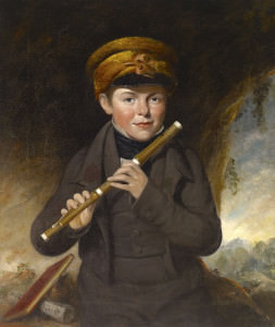 The Little Flute Player, Attributed to John Opie (1761–1807). Oil on canvas. Yale Collection of Musical Instruments, Belle Skinner Collection. Restored by Andrew Petryn.