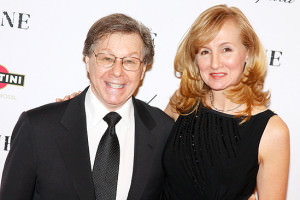 Composer Maury Yeston and his wife at the premiere of <em>Nine</em>.