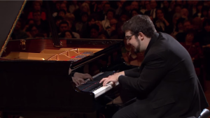 Richard-Hamelin performing at the Chopin Competition