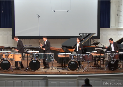 Yale Percussion Group performing in Morse Recital Hall