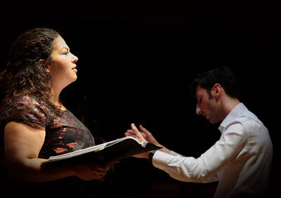 Soprano Emily Donato and conductor Quintin Beer