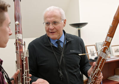 Bassoon teacher and student