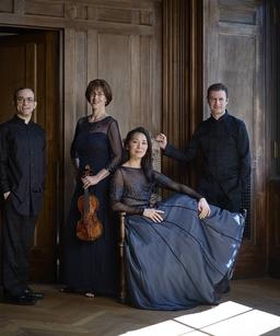 Photo of the Brentano Quartet.