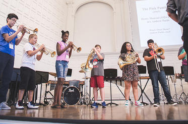 New haven students performing in Morse Recital Hall